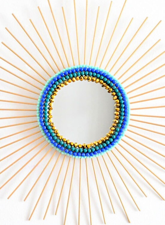 Beaded Sunburst Mirror from Drab to Glam 34