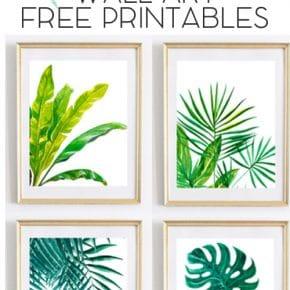 Beautiful Tropical Palm Watercolor Wall Art Printables 29