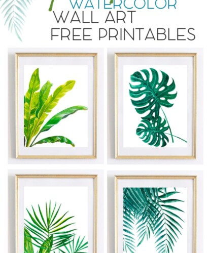 Beautiful Tropical Palm Watercolor Wall Art Printables 32