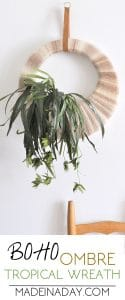 Boho Tropical Plant Wreath 1