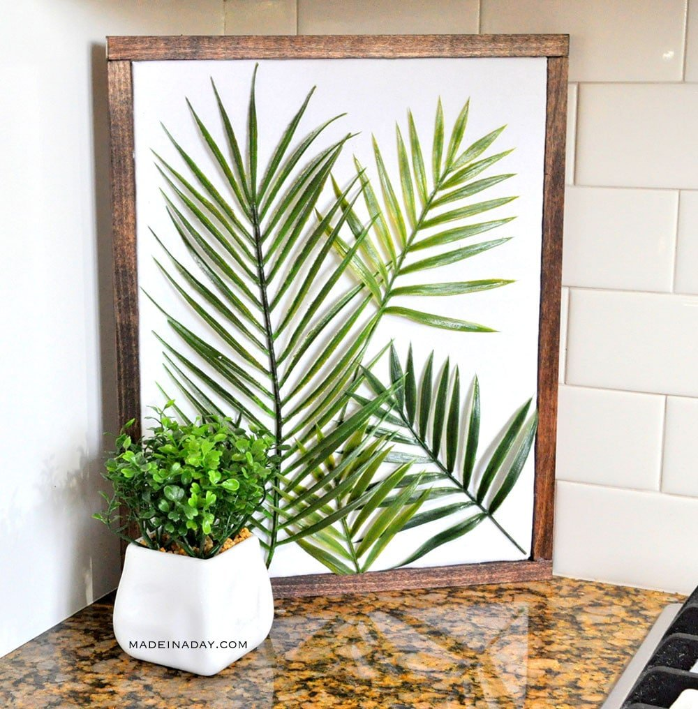 Diy minimal framed palm wall art made in a day for Minimal art wall