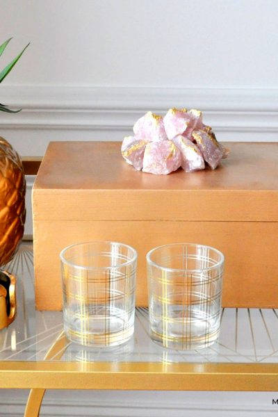 Gilded Rose Quartz Decorative Box Makeover