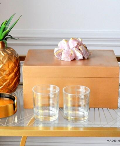 Gilded Rose Quartz Decorative Box Makeover 4