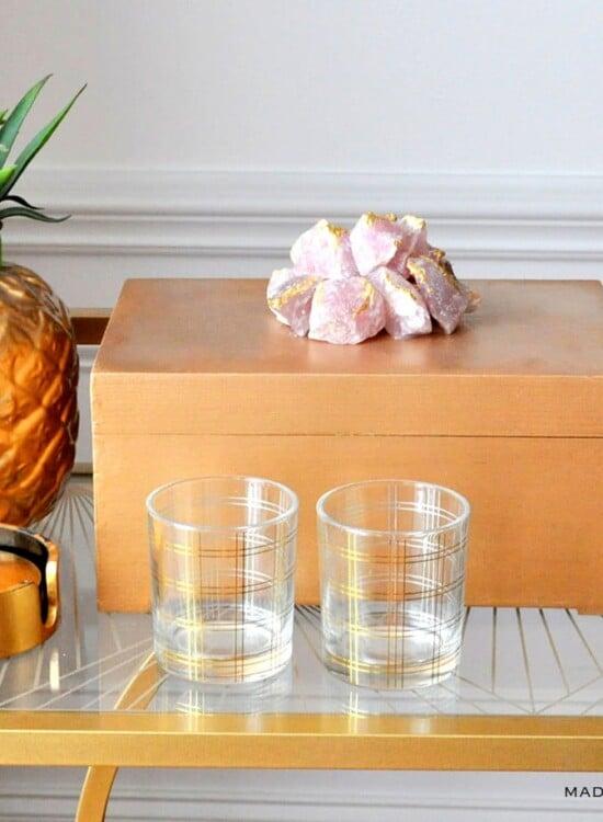 Gilded Rose Quartz Decorative Box Makeover 35