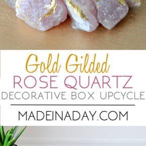 Gilded Rose Quartz Decorative Box Makeover 31