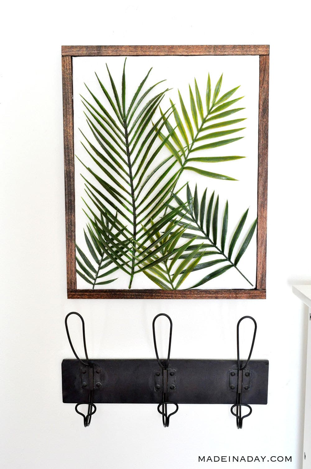 DIY Minimal Framed Palm Wall Art 38