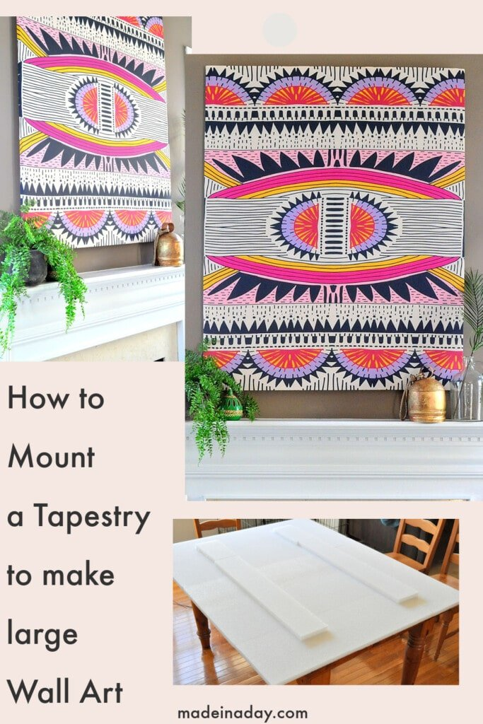 How to mount a tapestry on a wall, oversized wall art,