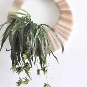 Vintage Inspired Boho Tropical Plant Wreath 1
