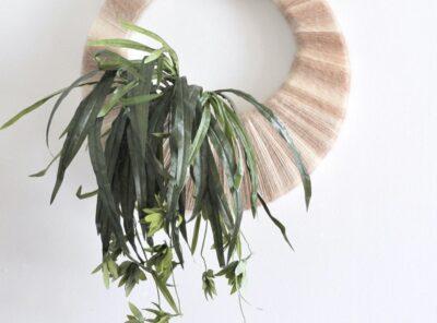 Vintage Inspired Boho Tropical Plant Wreath