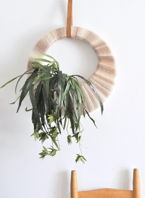 Vintage Inspired Boho Tropical Plant Wreath 32