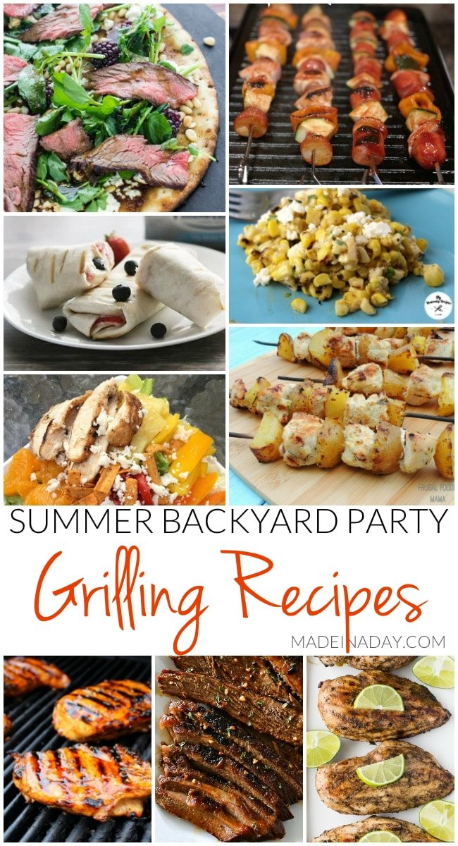 Summer Backyard Party Grilling Recipes
