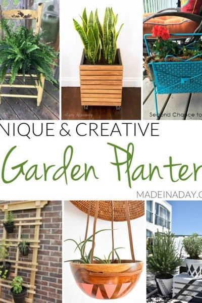 Unique Creative Garden Planter Ideas
