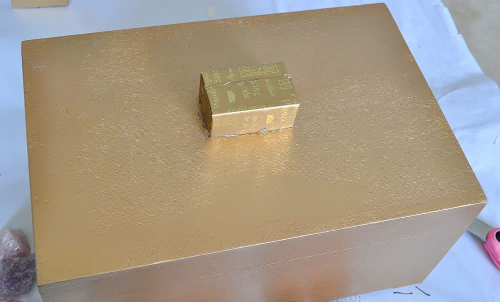 Gilded Rose Quartz Decorative Box Makeover Made In A Day