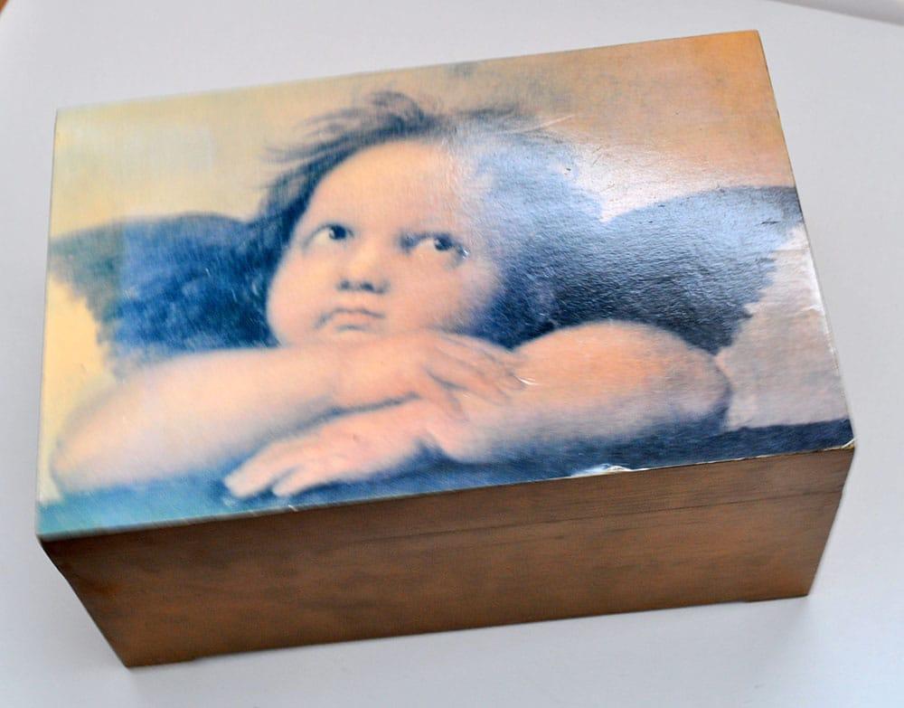 Gilded Rose Quartz Decorative Box Makeover 3