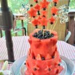 DIY Patriotic Watermelon Layer Cake