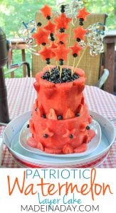 Learn to Make a Patriotic Watermelon Layer Cake #Sponsored 1