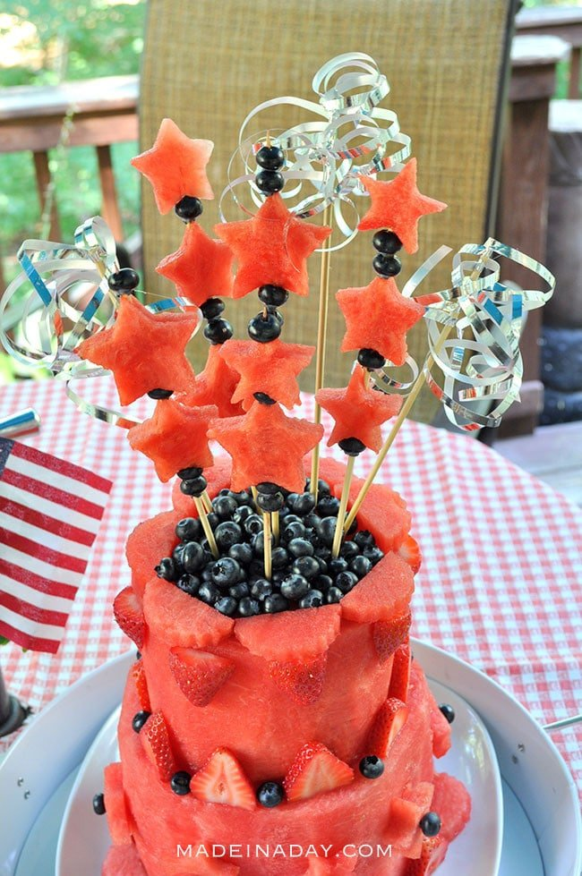 Easy DIY Watermelon Layer Cake