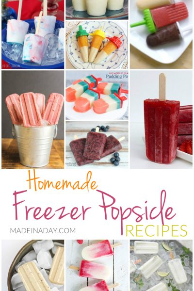 Homemade Freezer Popsicle Recipes