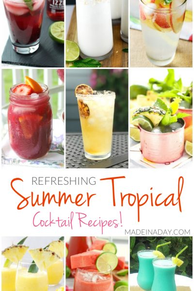 Refreshing Summer Tropical Cocktail Recipes