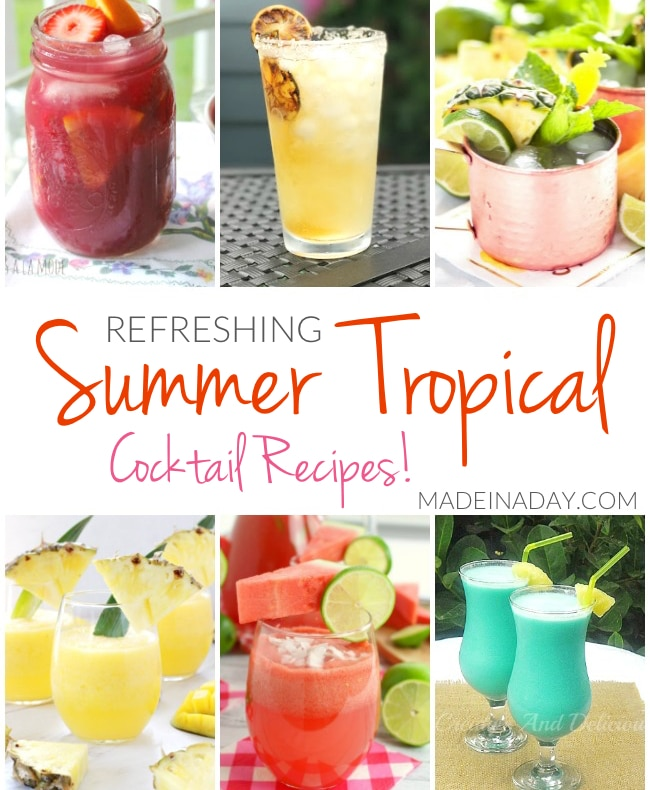 Refreshing Summer Tropical Cocktail Recipes • Made In A Day