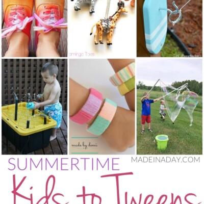 Summertime Kids to Tweens Boredom Busters