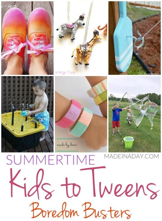 Summertime Kids to Tweens Boredom Busters 36