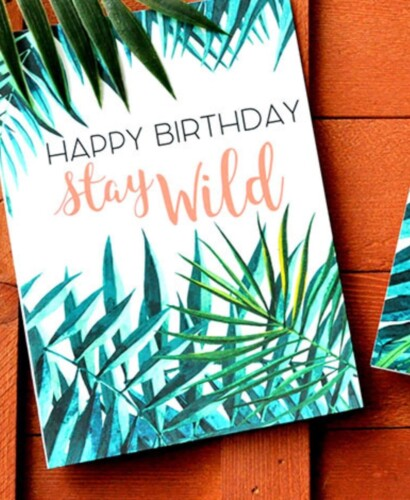 Tropical Palm Birthday and Thank You Card Printables 37