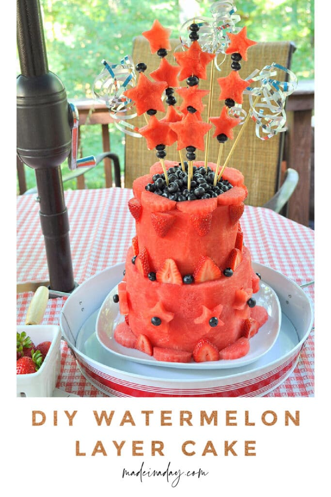 How to make a watermelon layer cake tutorial