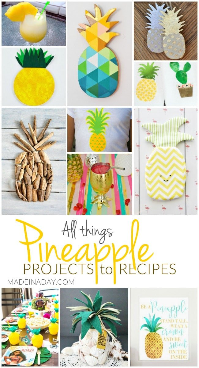 All Things Pineapple Projects to Recipes, pineapple wall art, pineapple cocktails, pineapple recipes, pineapple ornaments, pineapple driftwood, Pineapple party, #pineapple #pineapplewallart #wallart #driftwood #cocktails
