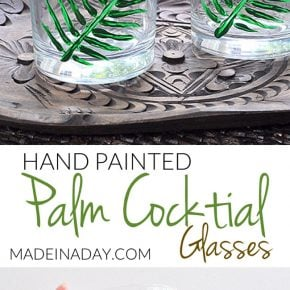 Hand Painted Tropical Palm Cocktail Glasses 31