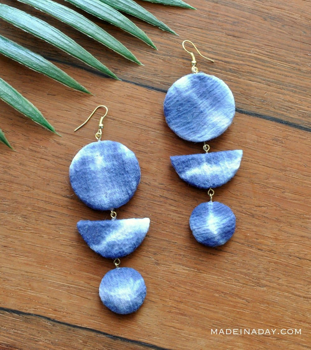Shibori earrings