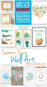 Summer Decor Wall Art Printables 1