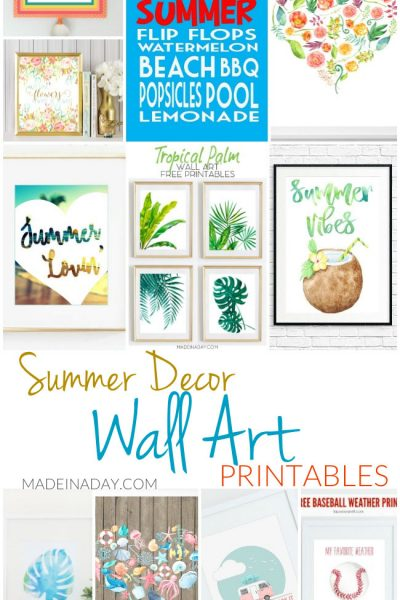 Summer Decor Wall Art Printables
