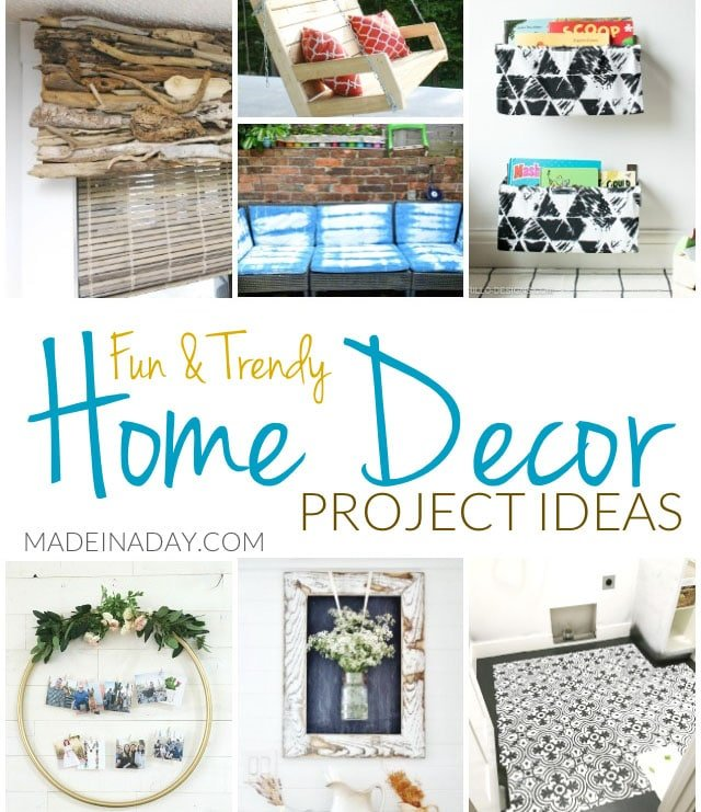 Interesting Home Decor Ideas: Fun Trendy Home Decor Project Ideas • Made In A Day
