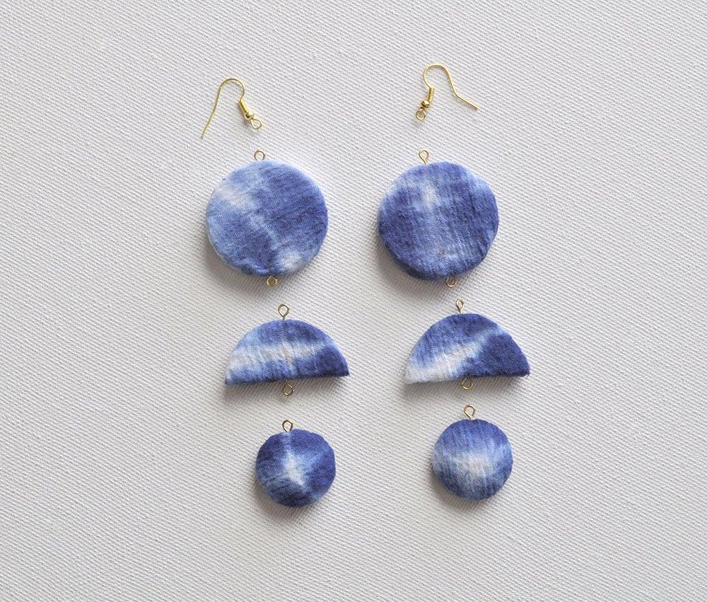 Shibori Crescent Earrings 38