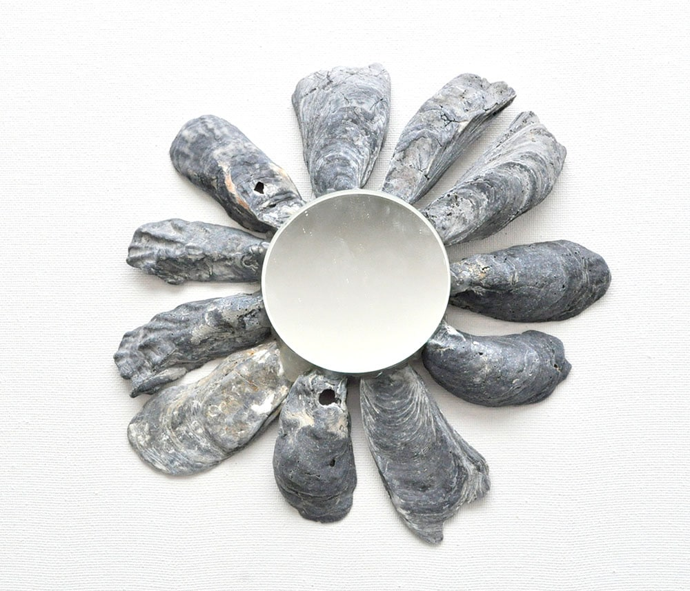 How to Make a Black Oyster Shell Mirror 7