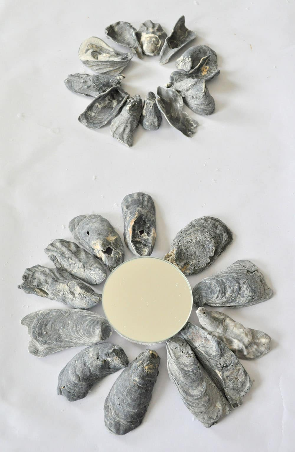 How to Make a Black Oyster Shell Mirror 4