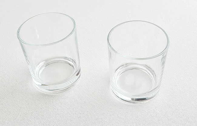 painted cocktail glasses