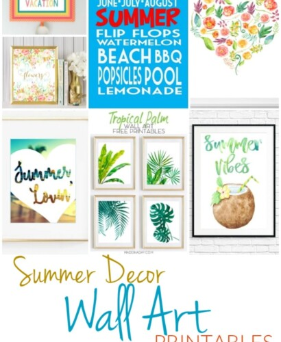 11 Summer Decor Wall Art Printables 35