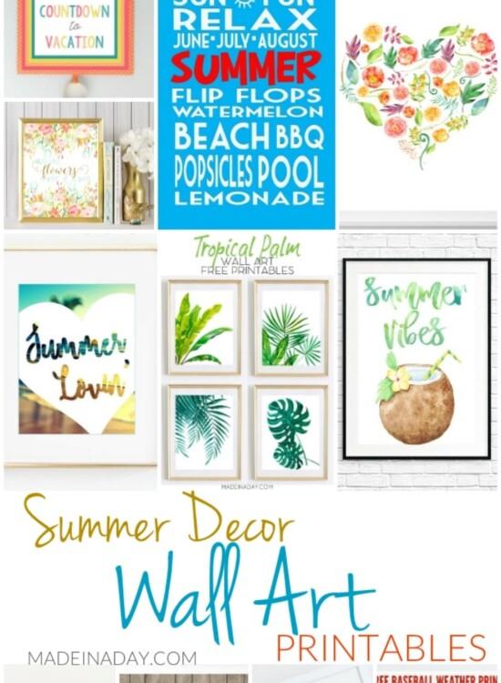 11 Summer Decor Wall Art Printables 9