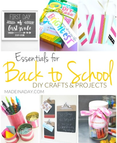 Essentials for Back to School DIY Crafts and Projects 35
