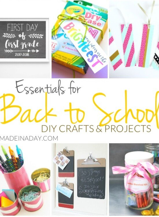 Essentials for Back to School DIY Crafts and Projects 6