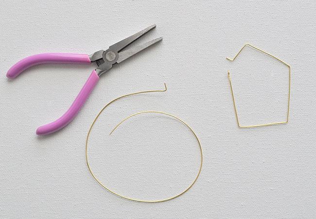 DIY Geometric Hoop Earrings 4