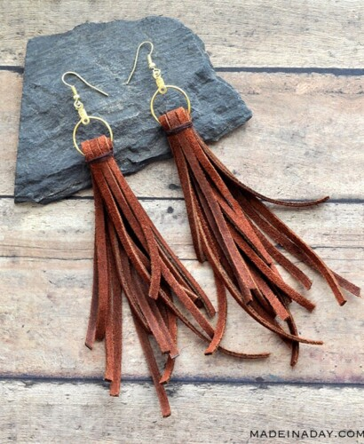 Trendy Boho Long Dangle Suede Fringe Earrings 9