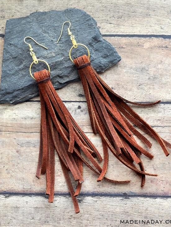 Trendy Boho Long Dangle Suede Fringe Earrings 35
