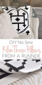 Make your own Kilim Throw Pillow Covers from a Rug 1