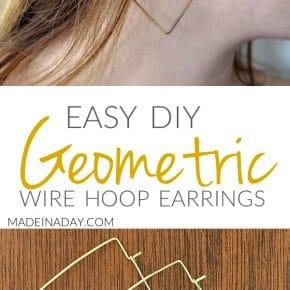 DIY Geometric Hoop Earrings 1