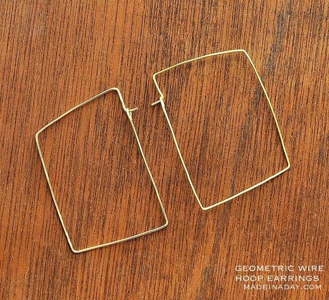 DIY Geometric Hoop Earrings 11