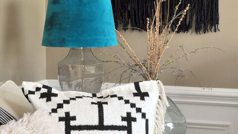 Recycled Fabric Stool Using a Rag Rug 5