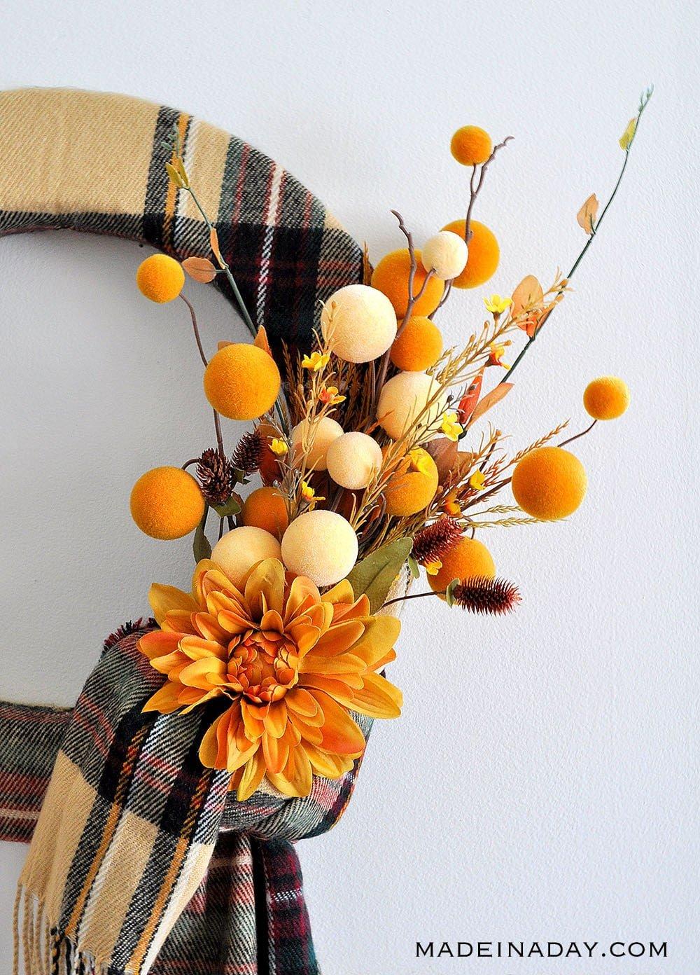 winter scarf wreath
